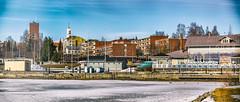 Iisalmi (Tuomo Lindfors) Tags: winter snow ice suomi finland spring harbour lumi talvi satama jää kevät iisalmi dfine niksoftware viveza sharpenerpro porovesi analogefexpro