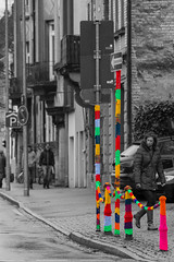 Potpourri (karlszwerg) Tags: street streetart bodensee konstanz colorkey guerillaknitting fusgngerzone strickguerilla