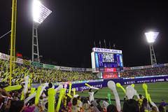 Start (Konsti.) Tags: city people game japan night tokyo emotion baseball nacht stadium player stadt tigers yokohama fans supporters hanshin flutlicht