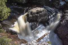Flow (muradjafari) Tags: trees pine river woods rocks falls shade birch flowing cascade spruce