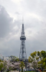 Nagoya Broadcast Tower (Brent King) Tags: tower broadcast japan nagoya cherryblossom sakura cherryblossoms televisiontower broadcasttower terebi