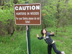 Caution: Hunters in Woods (Editor B) Tags: vacation mississippi woods natchez xy