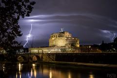 ThunderstROM (Stahlinho) Tags: rome roma weather night dark nacht thunderstorm lightning blitz gewitter rom dunkel wetter castelsantangelo 6d engelsburg