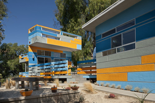 california orange house color green architecture modern design losangeles modernarchitecture sustainable modernhouse
