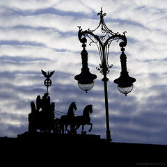 where have i been ? (ewaldmario) Tags: city berlin lamp silhouette germany deutschland lampe nikon gate europe brandenburggate stadt architektur bluehour lantern brandenburgertor laterne brandenburg ewaldmario