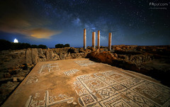 Time passagers (Francesco Russo 63) Tags: travel trees italy roma history clouds stars landscape rocks sardinia columns mosaics nora cagliari romans pula milkyway nighrshot ancientvillage archaeologicalarea