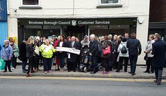 Eastwood cash office protest