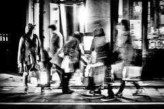 Famille Fondue (www.danbouteiller.com) Tags: japan japon japonia tokyo     saitama kawagoe city ville urban photoderue photo de rue street streetscene streetlife streets streetshot streetphoto streetphotography bynight night nocturne nocturnal asian asia asiatique blur blurred monochrome monochromatic mono black white noir nb bw noiretblanc blackandwhite blackwhite canon canon5d eos 5dmk2 5d 50mm 50mm14 5d2 5dm2