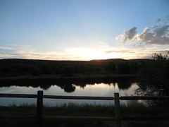 Sunset Over the Lake (jimmywayne) Tags: kemmerer wyoming lincolncounty sunset