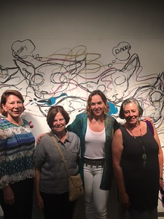 Dora Valdes Fauli, Chipi Morales, Mali Parkerson gallery owner and Isabel Sobrevilla at the new space The Hue in Wynwood