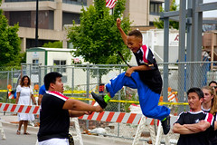 Karate Demonstration Skokie Illinois 4th of July Parade 2016 3730 (www.cemillerphotography.com) Tags: holiday kids illinois families celebration route politicians celebrities independence 4thofjuly clowns classiccars floats acts