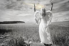 Calling Down Fire (Keltron - Thanks for 8 Million Views!) Tags: blonde angel angelic angelwings callingdownfire wrath revelation beautifulgirl modeling alaskansummer summerinalaska