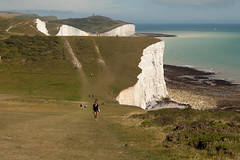 Seven Sisters walk   July 2016-34 (Paul Dykes) Tags: southdowns southdownsway southcoast coast cliffs sea shore coastal englishchannel sussex england uk seaside sun sunnyday chalk downs hills countryside
