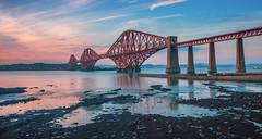 Forth Rail Bridge (RavyDavy1980) Tags: forthrailwaybridge forthrailbridge forth water sunset dusk goldenhour train railway bridge scotland southqueensferry edinburgh summer evening longexposure sonyalphaa77ii tamron1024mm wideangle