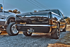 222 (Strangely Different) Tags: diesel chevy 1500 powerstroke ford silverado slammed jacked force american 22x14 1958 delray