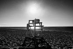 East Beach 2016 - Sun Worshiper (BW) (uselessbay) Tags: 2016 agfascala200x beach charlestown dxofilmpack5 eastbeach landscape places rhodeisland uselessbayphotography blackandwhite digital lifeguardstation nightphotography uselessbay