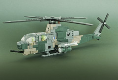 """Bell AH-1Z """"Viper"""" (Aleksander Stein) Tags: lego military bell helicopter rnoaf ndc norway ah1 cobra zulu viper attack fire support"""