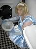 CIMG6802 (sissybarbie1066) Tags: baby satin sissy maid uniform blue cleaning toilet sissymaid