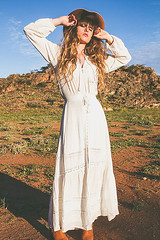 The Living Desert. by Alexe B., SHOP OWNER/DESIGNER & BLOGGER AT WWW.DOLLPOUPEE.COM from from France but live on the road in, Australia (9lookbook.com) Tags: australia beach bohemian boho brokenhill byronbay desert guadeloupe gypsy island travel trip spelldesigns