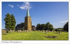 St Helens, Kirmington, England (Paul Simpson Photography) Tags: photoof imagesof imageof photosof paulsimpsonphotography summertime august2016 sonya77 sthelens kirmington northlincolnshire trees spire steeple graves sunshine grass headstones bluesky naturalworld nature church religion churchphotography photosofchurches lincolnshire lincolnshirechurches northlincs england uk