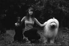black&white (Alex Speedo) Tags: film analog contax zeiss 35mm ishootfilm dog doberman model planar contaxrx kodak planar8514 girl couple c41 filmrussia team