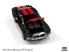 Ford 1965 Mustang GT Fastback (lego911) Tags: ford motor company 1965 mustang gt v8 fastback coupe 1960s classic auto car moc model miniland lego lego911 ldd render cad povray lugnuts challenge 107 saturdaymorningshownshine saturday morning show n shine pony