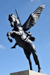Airborne Forces Memorial (Bri_J) Tags: nationalmemorialarboretum alrewas staffordshire uk nikon d7200 airborneforcesmemorial airborneforces memorial statue parachuteregiment pegasus