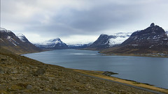 there are places serene and wonderful (lunaryuna) Tags: iceland northwesticeland westfjords fjord mountainrange landscape seascape coast shoreline snowcappedmountains solitude serenity panoramicviews nature beauty spring season seasonalchange lunaryuna