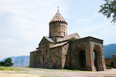 Tatev monastery (chrisdingsdale) Tags: cross armenia armenian christianity christian medieval art tatev tatevavank monastery history historic historical unique belief religion religious believe faith spiritual ancient tradition traditional memorial memory stone rock gray black church apostolic culture cultural ethnic famous monument national outdoors beautiful wall sky blue architecture architectural building temple tower syunik goris landscape nature clouds mountain hill tree green yellow arch pillar column tourism touristic colorful old
