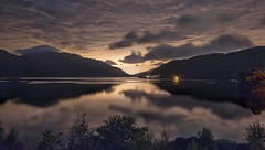 Loch Lomond Reflections (Photeelover) Tags: colours colour inverglus arrocharalps arrochar mountain mountains night calm clouds lochlomond lomond loch scotland reflection water