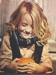 I love autumn (heidikesteloot) Tags: mextures photography portrait people child girl autumn pumpkin joy smile