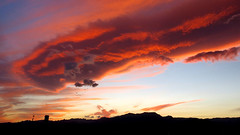 red lenticular cloud at sunset (Marlis1) Tags: sunset sonnenuntergang lenticular lenticularclouds elsports weatherphotography marlis1 föhnfisch extremeclouds tortosacataluñaespaña canong15