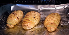 Hasselback potatoes.. yum! (Ayman) Tags: food potatoes hasselback