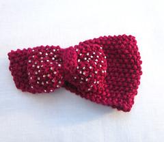 Hand crochet rhinestone ear warmers (finefeatherings) Tags: turban earwarmers handcrochetbowheadband knitrhinestoneheadband