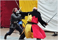Battling knights (alcowp) Tags: france fight display medieval knights swords armour fra vincennes