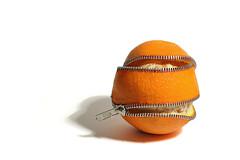 unzip (brescia, italy) (bloodybee) Tags: shadow stilllife food orange white fruit eat citrus peel zip unzip 365project