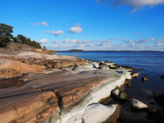 Coastline (Jens Haggren) Tags: sea sky water rocks sweden olympus coastline omd em1 ingarö