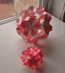 Sakuradama - Cherry Blossom Ball (Judith Magen) Tags: origami sakura kusudama toshikazukawasaki sakuradama cherryblossomball