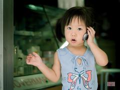 P6305524 (BandG-Foto) Tags: hello portrait girl children kid call child telephone childportrait