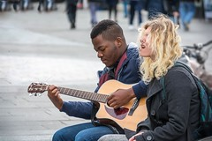 Joining in (The Image Den) Tags: people raw hampshire singer busker southampton busking guitarist towncentre abovebar lr57