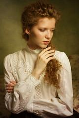 Gabi (lucrecia lee) Tags: shadow portrait colour girl beautiful beauty face fashion vintage dark bigeyes eyes gorgeous victorian curls sensual retro redhead redlips dreamy colourful charming elegant delicate redhair graceful curlyhair ephemeral stylish subtle daydreaming edwardianstyle