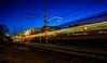 Estacion de tren, Malgrat de Mar (victorcaudet) Tags: luz tren noche paisaje estacion nocturna urbano exposicion larga nocturno estacio largaexposicion malgratdemar