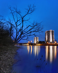 The Towers (Elliotphotos) Tags: trees ohio reflection tree tower reflections university state osu lincoln bluehour elliot theohiostateuniversity ohiostate ohiostateuniversity the westcampus lincolntower morriltower gilfix morril elliotphotos elliotgilfix