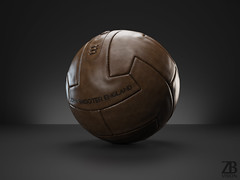 Vintage Soccer Football Ball 3D model (ZB-Vision) Tags: new old brown leather vintage ball football 3d model stitch time soccer used worn stitching detailed highquality