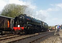 Britannia runs round. (tim_marshall_7099) Tags: norden locomotive gala britannia steamlocomotive britishrailways 70000 preservedrailway swanagerailway heritagerailway