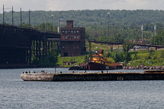 Edna G (joeldinda) Tags: vacation sky water minnesota harbor nikon waterfront august greatlakes states tug 2009 lakesuperior twoharbors oredock d300 0742 nikond300