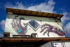 """GODSBANEN"" (LARSERAQ) Tags: the old freight yard cultural center urban living gathering place grafitty alternative housing blue sky clouds godsbanen sony rx1rm2 rx1rmk2 rx1rmii rx1rmkii carl zeiss sonnar 235 full frame cmos image sensor larseraq aarhus jutland denmark train"
