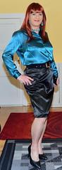 Birgit022451 (Birgit Bach) Tags: rock skirt blouse satin bluse