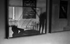 reflets ombrs (krystinemoessner) Tags: paris monochrome noir nb sw tableau et blanc reflets bresson ombres fondation krystine taek moessner