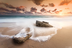 Golden time (arturomontes) Tags: longexposure light sunset sea sun seascape luz sol beach rock landscape atardecer golden sony silk playa paisaje nd cadiz hitech largaexposicin conildelafrontera sigma1020 sedas